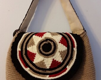 Crocheted flap purse (lined)