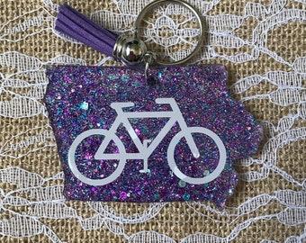 Ride Iowa Keychain