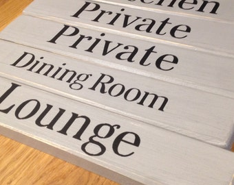 Handmade Personalised wooden door signs