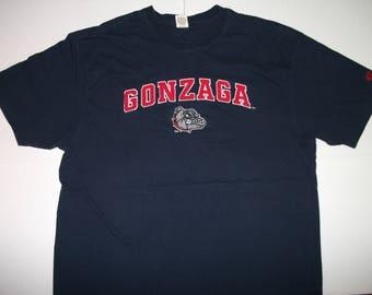 GONZAGA Heavyweight Embroidered Navy Blue T-shirt Size 2XL XXL