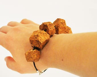 cork bracelet with black strap