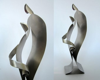 NURTURE- Stainless Steel Sculpture Art - a Gift for any parent or teacher