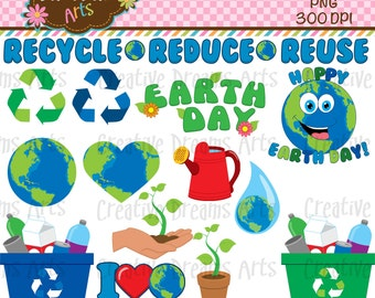 40% Off! Earth Day Digital Clip Art Instant Download