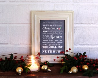 Instant Download - Christmas Vacation Quote - Clark Griswold- Wall Art- Christmas Typography - Digital Print - Christmas Print - Christian