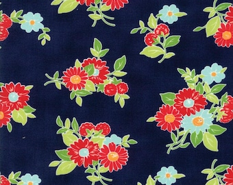 The Good Life #55151-16, Bonnie and Camille, Navy Fabric, Moda Fabrics, IN STOCK