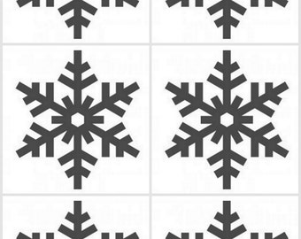 Set of 15 Snowflake vinyl decals/stickers assortment