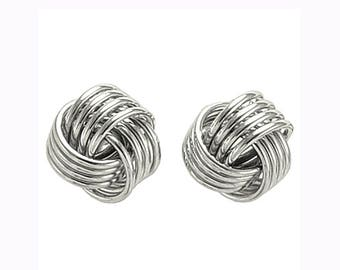 14k Polished Love Knot Post Earrings 5.30 gr Available in Yellow Gold.   E453