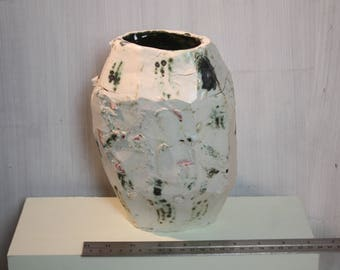 Heavy carved porcelain vase handles snapped off
