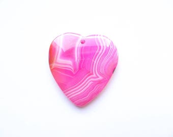 dyed agate pendant heart TELL-108