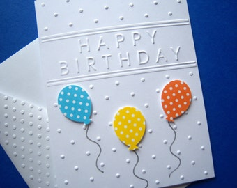 Bright Balloons Birthday Card