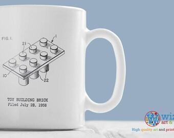 Lego Mug - Patent Design Mug of a Lego Brick