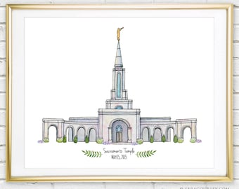 lds temple art etsy rh etsy com Black and White Salt Lake Temple free salt lake temple clipart