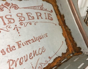 French farmhouse serving tray, decorative display tray