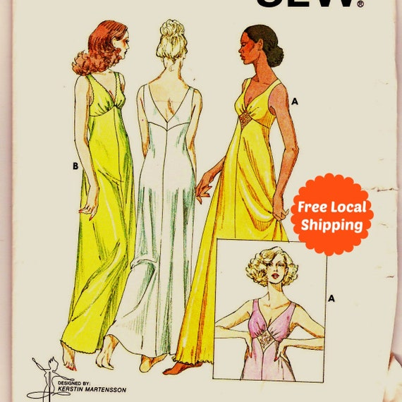 Sewing Patterns For Women Empire Waist Lingerie Pattern Long