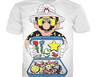 Super Mario-Cartoon-Luncbox Top-Tees-T-Shirt Ärmel