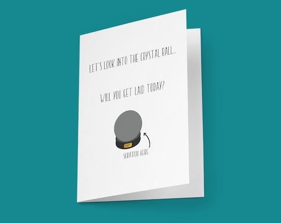 Rubbeln Sie Card lustige Geburtstag Card frech Jahrestag Card