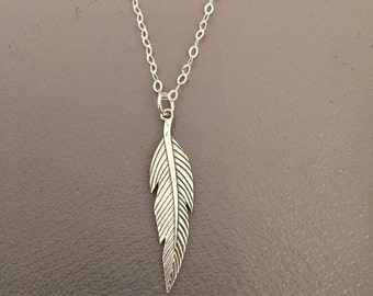 Men jewelry - Men Necklaces - Gift for man - Gift for him - long feather