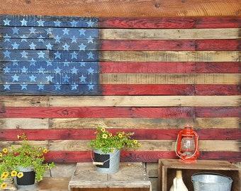 United States Flag - Pallet Wood