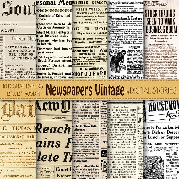 Newspapers Digital Paper Newspaper Vintage Old