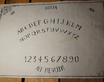 Ouija board with Octopus and Ivy in full and untied letters