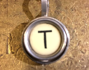 T Typewriter Key Pendant