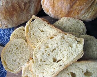Ciabatta, 2 Loaves, Rustic Artisan Bread, Bread, Homemade Bread, Artisan Bread, Loaf Bread, Sandwich Bread, Dipping Bread, Holiday Bread