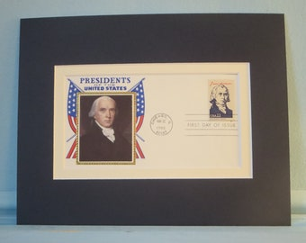 President James Madison & First day Cover of his own stamp