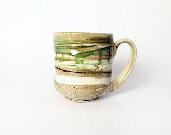 Handmade colorful pottery mug, Ceramic coffee mug, Handmade stoneware mug