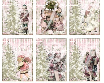 Digital Download Vintage Noel Gift Tags ECS 2014