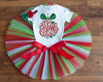 """Christmas outfit girl """"Holly"""" baby girls Christmas outfit newborn Christmas outfit baby Christmas outfit toddler girls Christmas outfit"""