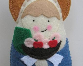 Saint Dorothy Felt Saint Softie