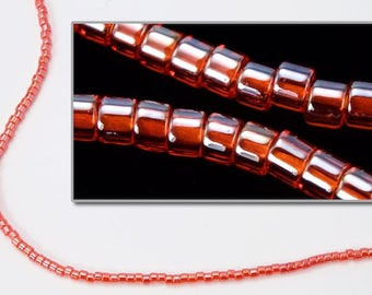 DBV098- 11/0 Transparent Luster Coral Delica Beads