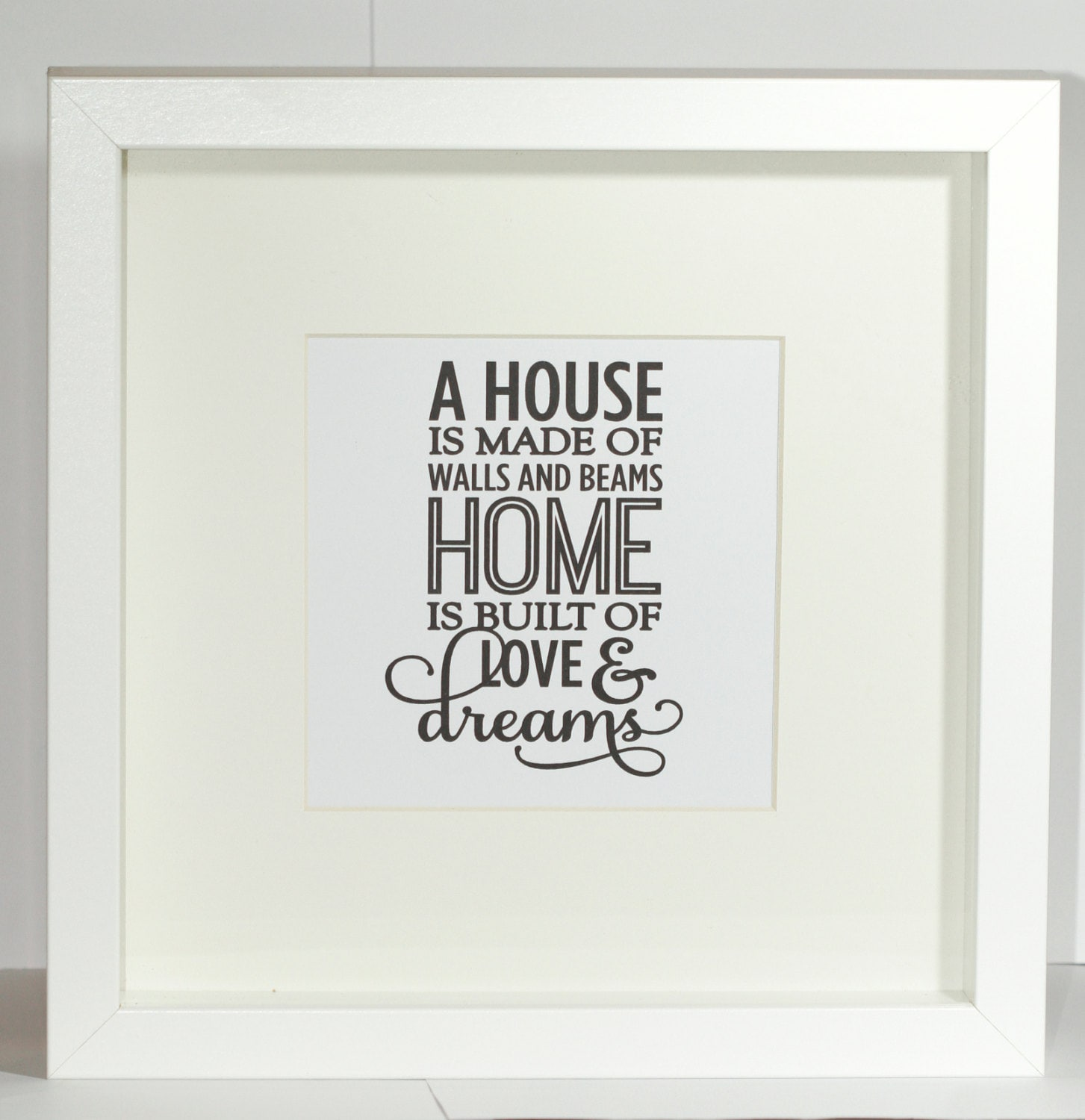 New Home Quotes Framed Quote Printnew Home Gift Framemoving Gifthouse