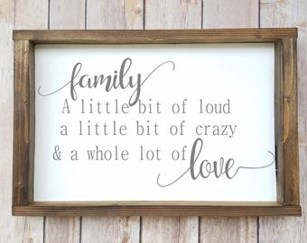 Family Quotes, Family Wall Decor, Quote Wall Sign, Family Quote Sign, Framed Wall Quotes, Wood Wall Quotes, Family Sign, Wooden Love Sign