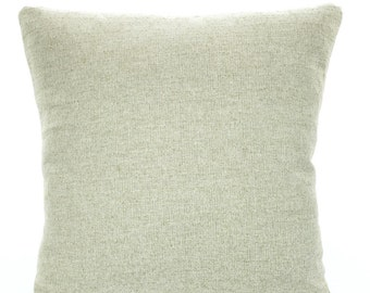 Solid Tan Pillow Cover, Decorative Throw Pillows, Cushions Natural Cloud Denton Unprinted Solid Burlap-LIKE Euro Sham. One or More ALL SIZES