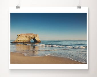Santa Cruz photograph Natural Bridges State Beach photograph Pacific Ocean photograph beach house decor beach print Pacific Ocean print