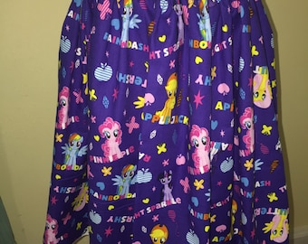 Custom made My Little Pony MLP Friendship Ponies Names Inspired fabric Skirt Elastic Wasitband XS S M L XL xxl pick size Made
