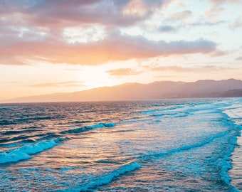Sunsetting in Malibu - Beach - Travel Photography - Fine Art Photo - Pacific Ocean - Landscape - Oceanscape