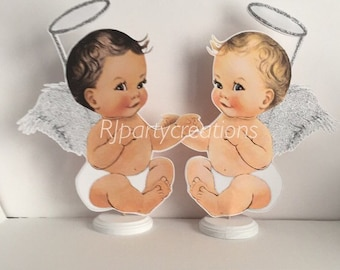 Silver or Gold Angel Babies Centerpieces