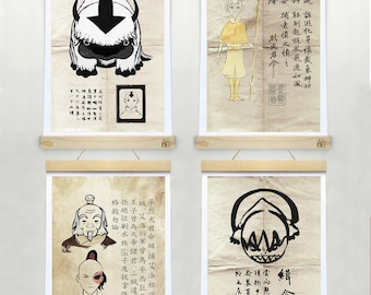 AVATAR The Last Airbender Wanted Posters Aang Appa Togh Zuko And Iroh