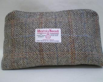 Harris Tweed Wash Bag - Herringbone with Overcheck