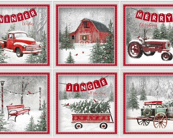 Holiday Wishes -- Truck PANEL