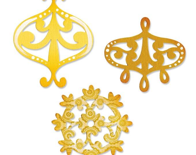 Sizzix Sizzlits Die Set 3PK - Decorative Accent & Flower Wreath Set 657998