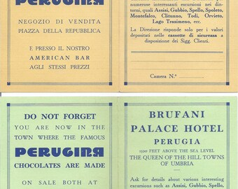 Brufani Palace Hotel Perugia, Italian Brochure