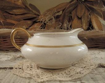 Vintage Pope Gosser China / Mini Pitcher / Small Bud Vase / Gravy Boat / Creamer / Ewer