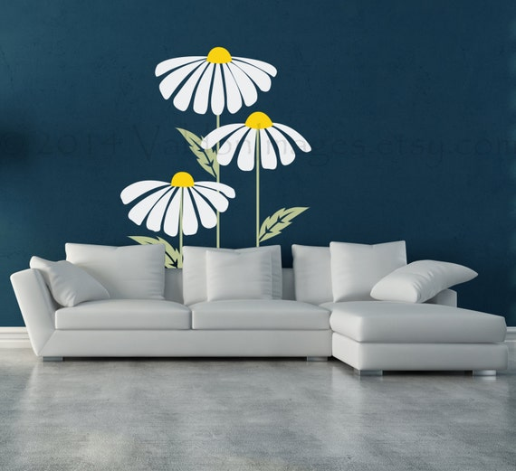 Large Daisy Wall Decal - Various Sizes by ValdonImages