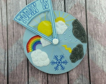 Weather Wheel, Learning Game, homeschooling, Montessori, early learning, teaching aid, educational tool, pretend play, classroom science