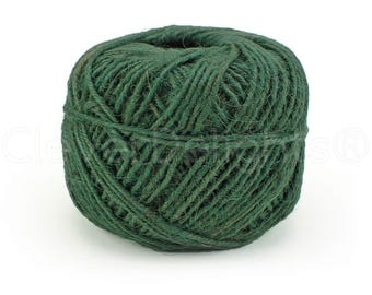 50 Yards - Green Jute Twine - 2mm 3-Ply Premium Natural Twine - Craft Bulk String Rope - Gift Wrap, Packaging, Home and Garden