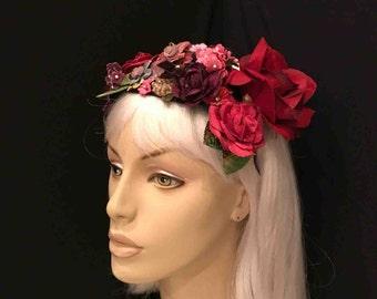 Velvet & Silk Flower Blooming Garden Headband