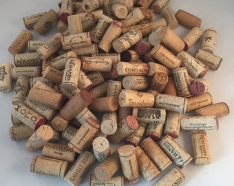 Large Variety of 130 Recycled Wine Corks, Crafting, Decorating, Cork Board, Used Wine Corks Multiple Brands